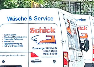 Wäscherei Schick Ebensfeld Lieferservice