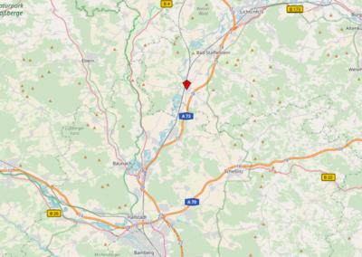 Wäscherei Schick Ebensfeld open street map, Karte