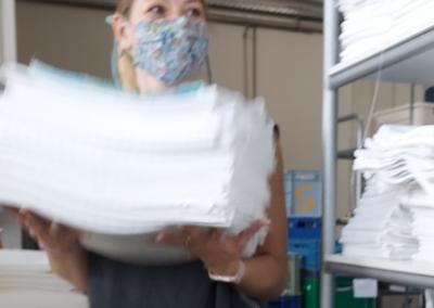 Wäscherei Schick Ebensfeld Mitarbeiterin